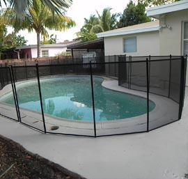 Pool Fence on Concrete Deck